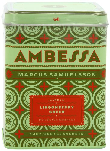 Harney & Sons Ambessa Lingonberry Green Tea, 20 Tea Sachets