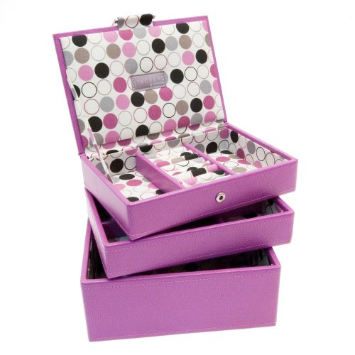 Stackers Set of 3 Pink Mini Stacker Jewellery Trays