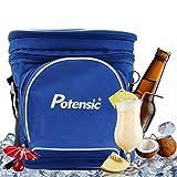 ポテンシック(Potensic) クーラーボックス 保冷バッグ クーラーバッグ トートバッグ ショルダーバッグ ピクニック キャンプ アウトドア 等用(5L) ブルー