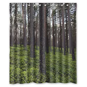 Green Forest Custom Shower Curtain 60 X 72
