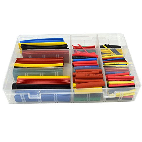 New URBEST®328 Pcs Assorted Heat Shrink Tube 5 Colors 8 Sizes Tubing Wrap Sleeve Set Combo