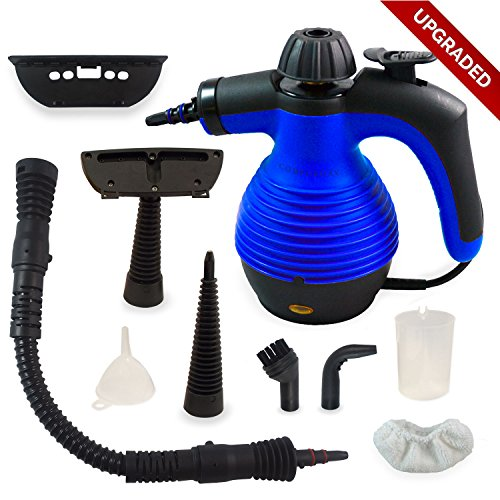BIG WEEKEND SALE Handheld Multi-Purpose Pressurized Chemical Free Steam Cleaner with Safety Lock and Sanitizing System with 9 FREE Accessories. Great for Bed Bug Treatment (Washer Vapor compare prices)