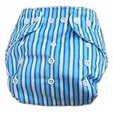 Hot Baby Infant Impreso pañal pañales de tela (lavable Pañal reutilizable Insertos Bluestripe