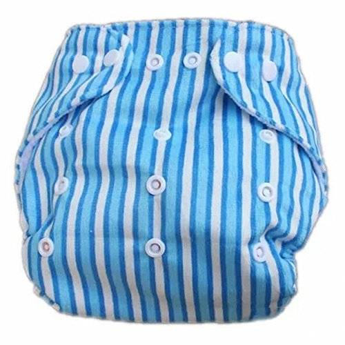 New Boy Girl Infant Cloth Diaper Sweet Print Solid Snap Nappy front-1052042