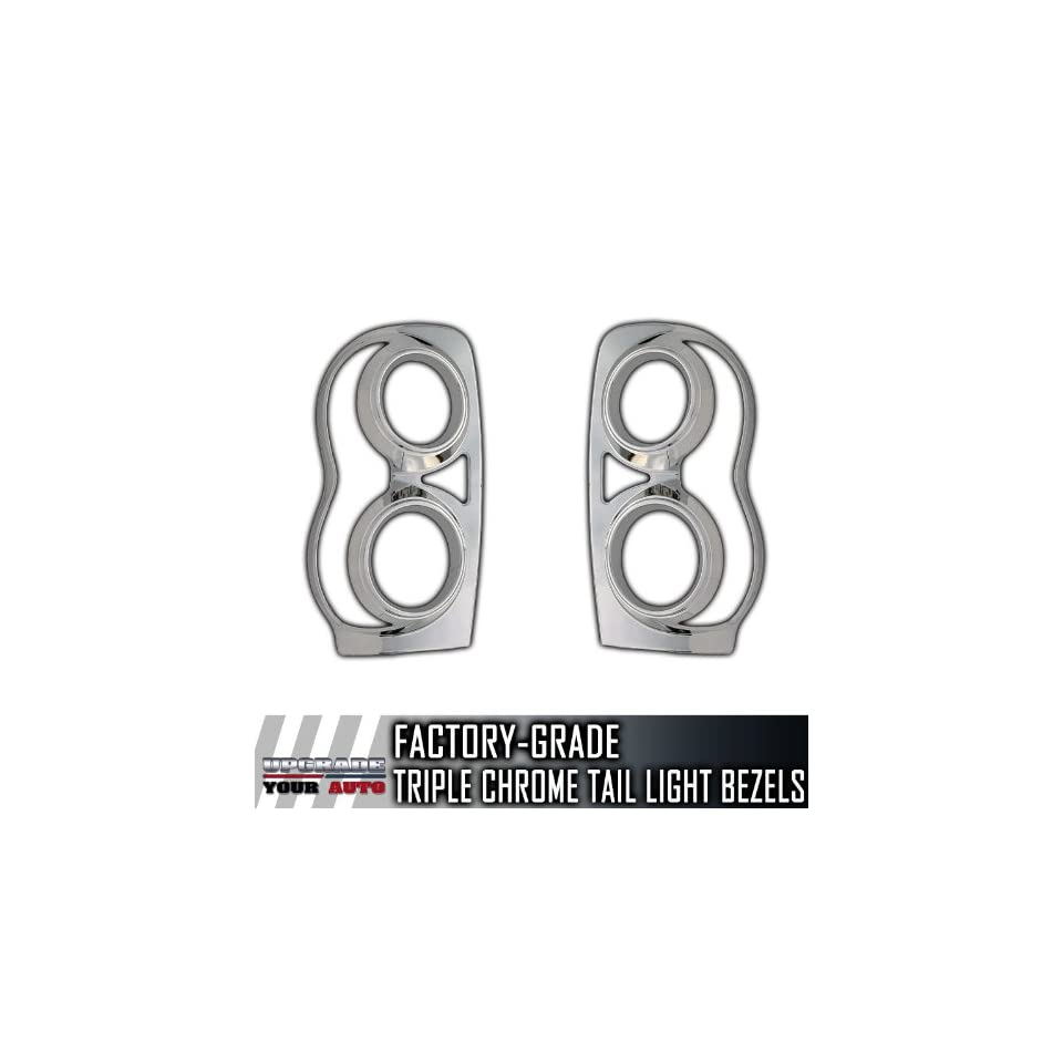 2004 2009 Dodge Durango 2pc Chrome Tail Light Bezels