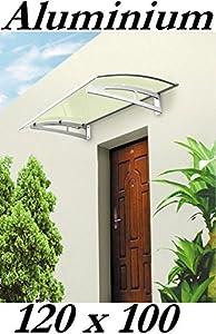Aluminium Vordach 120 x 100 cm Türdach Türvordach Haustür Tür Dach Pultvordach  BaumarktKundenberichte und weitere Informationen