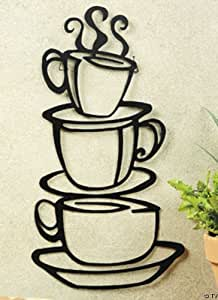 Generic COFFEE house cup java SILHOUETTE wall art metal mug NU