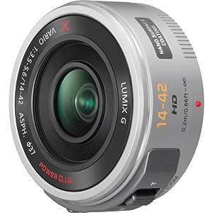Panasonic Lumix G X Vario PZ 14-42mm/F3.5-5.6 Lens for Panasonic Lumix G-Series Digital Cameras, Silver