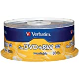 Verbatim 4.7 GB 1x- 4x ReWritable Disc DVD plus RW  30 Disc Spindle 94834