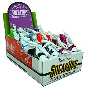 Inkology SneakUps Sneaker Keychains, 3 x 1.25 x 1.75 Inches, Assorted Colors - 24 Pieces (161-4)