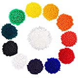 eBoot 12 Colors Water Beads Vase Filler for Wedding and Furniture Decoration, 12 Pack