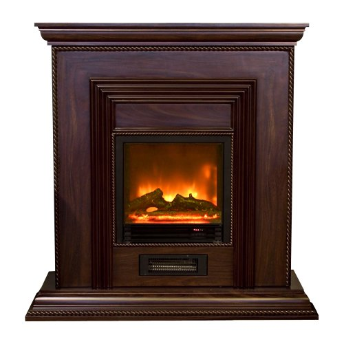 Yosemite Home Decor Df-Mp43 43-Inch Classic Electric Fireplace Mantel Package With Faux Wood Logs