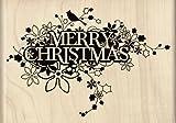 Inkadinkado Trailing Merry Christmas Wood Stamp