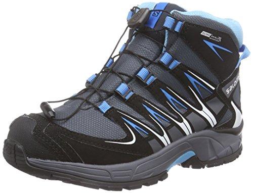 SalomonXA PRO 3D Mid J - Scarpe da trekking e da passeggiata Unisex - Bambini , Grigio (Grau (Grey Denim/Black/Methyl Blue)), 38