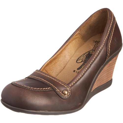 Fly London Women's Julie Dark Brown Wedge Heel P141735005 7 UK Dark Brown 7 UK