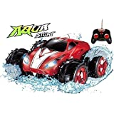 Click n' Play Land & Water Amphibious RC Remote Control Car, 200 Ft Range, Working LED Headlights - Red