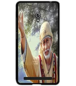 ColourCraft Lord Sai Baba Design Back Case Cover for ASUS ZENFONE 6 A600CG