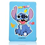 Cartoon Cute Blue Stitch & Lilo Patte...