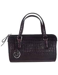 LA ROMA Brown Leather Handbag For Women