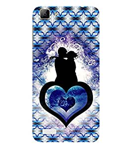 ifasho couple kissing Back Case Cover for VIVO Y53
