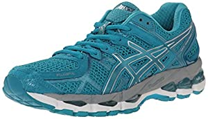 ASICS Women's Gel-Kayano 21 Running Shoe, Emerald/Silver/Emerald, 8 M US