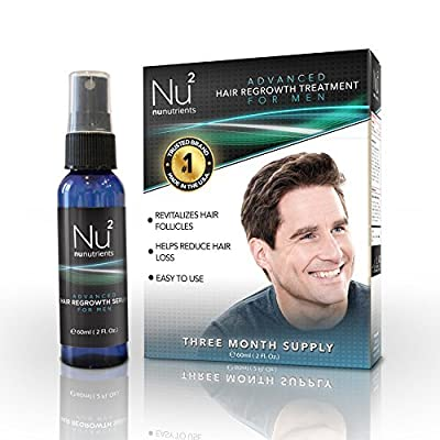 NuNutrients Advanced Hair Regrowth Treatment for Men - Easy-to-use Spray Bottle (One Bottle - 2 FL Oz)
