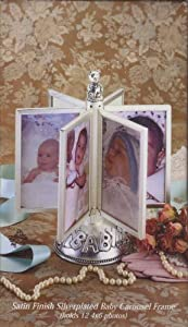 Satin Finish Silverplated Baby Carousel Frame 13441