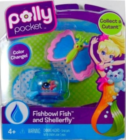 Buy Low Price Mattel Polly Pocket Cutant Fishbowl Fish and Shellerfly Figure (B004CLRZNI)