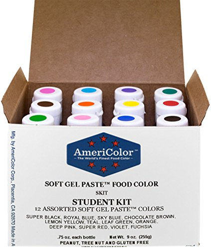 americolor-student-soft-gel-paste-food-color-075-ounce-12-pack-kit