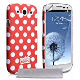 """Samsung Galaxy S3 Tasche Rot Punkte Hart Hybrid H�lle Mit Displayschutz Und Poliertuchvon """"Yousave Accessories�"""""""