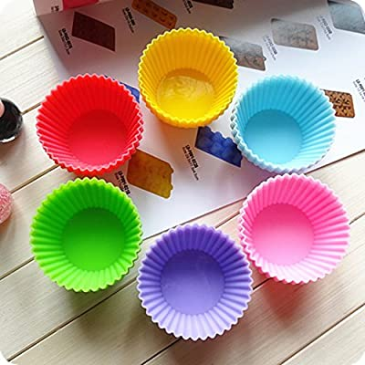 Cupcakes Cupcake Liners Bake Cups Silicone Baking Cups 12 Pack Large 7cm