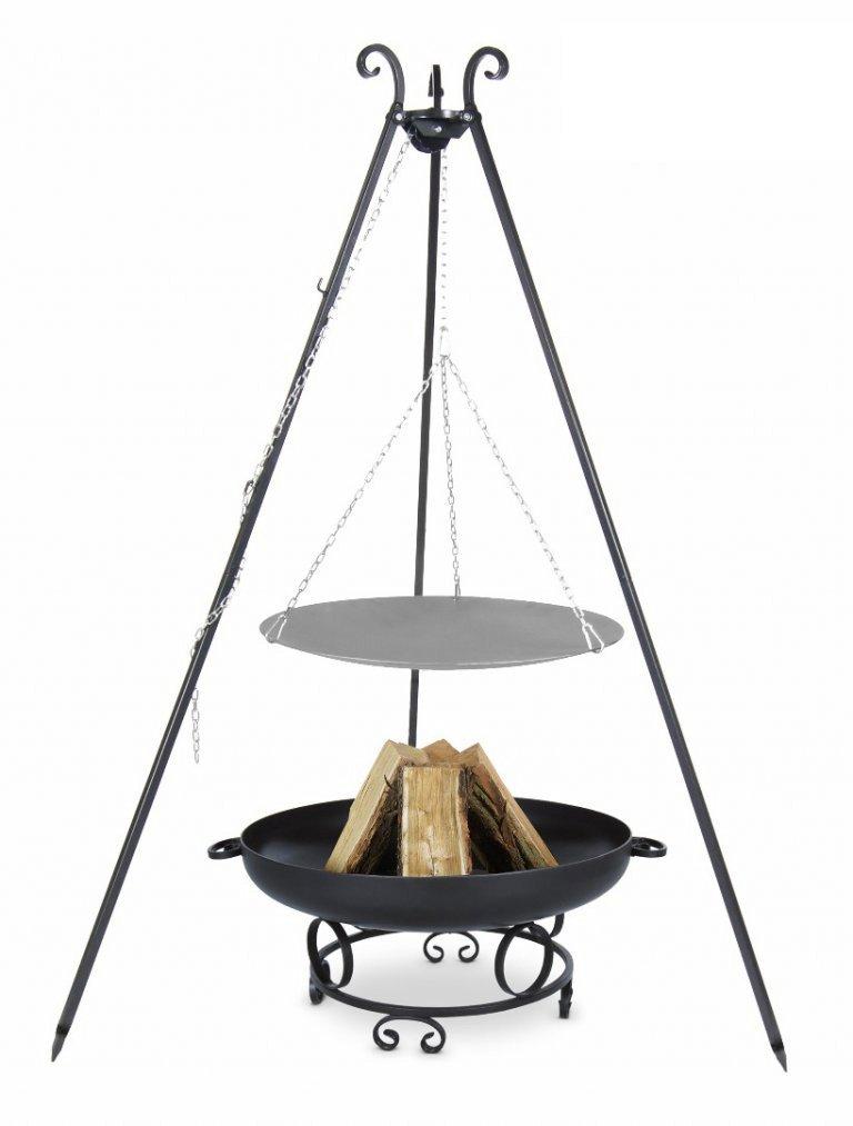 Lagerfeuerpfanne 46 cm auf Dreibein, inkl. Feuerschale # 38, 60 cm online bestellen
