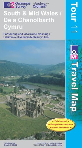 South and Mid Wales (Tour Maps) OS (OS Travel Map - Tour Map)