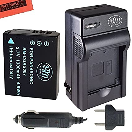 CGA-S007-Battery-and-Battery-Charger-for-Panasonic-DMC-TZ1-DMC-TZ2-DMC-TZ3-DMC-TZ4-DMC-TZ5-DMC-TZ11-DMC-TZ15-DMC-TZ50-Digital-Camera-+-More!!