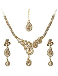 Krishnas White Color Necklace Sets For Women-KT056