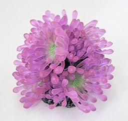 Aquarium Fish Tank Silicone Sea Anemone Artificial Coral Ornament SH237 pu