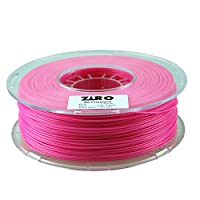 ZIRO 3D Printer Filament PLA 1.75 1KG(2.2lbs), Dimensional Accuracy +/- 0.05mm, Rose from ZIRO