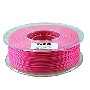 ZIRO 3D Printer Filament PLA 1.75 1KG(2.2lbs), Dimensional Accuracy +/- 0.05mm, Rose from ZIRO