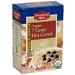Arrowhead Mills Organic 7 Grain Hot Cereal, 22 Ounce Boxes (Pack of 6)