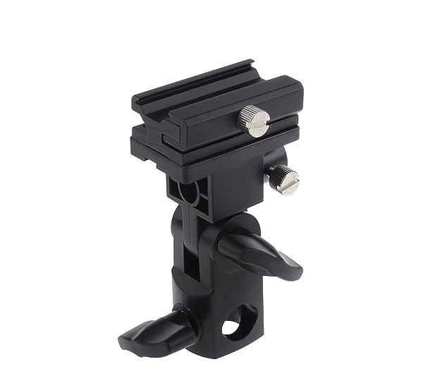 Godox Flash Bracket Speedlite Monte Swivel Light Stand Soporte para paraguas Studio inclinable para Canon 430EX II, 580EX II, 600EX-RT, Nikon SB600 SB800 y SB900