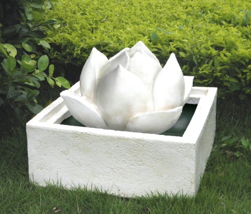 White-Lotus-Flower-Fountain-Outdoor