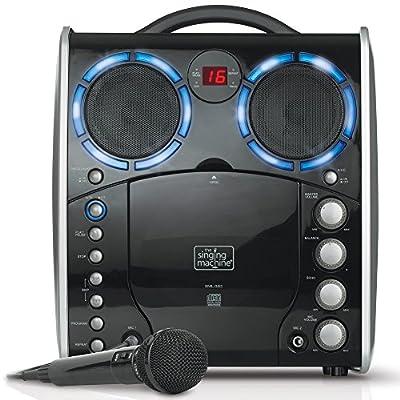 Singing Machine SML-383 Portable CDG Player Karaoke Machine, Black from Singing Machine