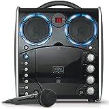 Singing Machine SML-383 Portable CDG Player Karaoke Machine, Black