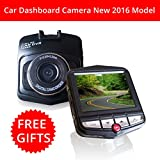 Car Dashboard Video Camera Full HD 1080P With Wide Angle 170 Degree Also Includes Bonus Products 16GB Micro Memory...