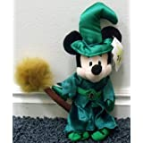 "Disney Haunted Princess Minnie Mouse As Wicked Witch With Broomstick 11"" Plush Bean Bag Doll"