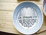 イタリア料理店の地中海ブルー 24cmパスタボール