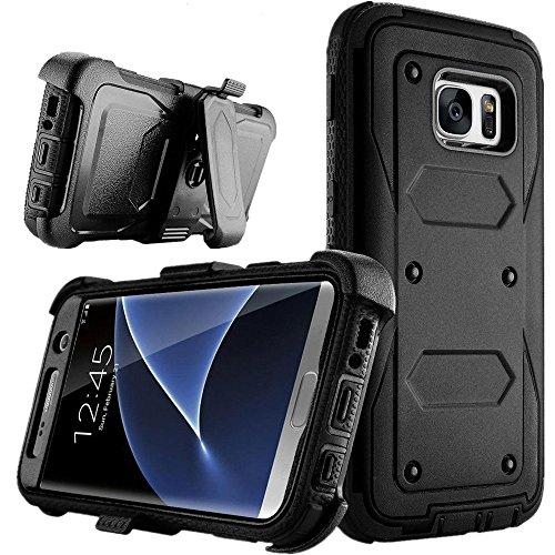 S6 Edge PLUS case, Asstar Heavy Duty Premium Belt Clip Holster Shock Reduction Bumper Case Built-in Kickstand Rugged Holster Armor Case for Samsung Galaxy S6 Edge PLUS (Black) (Gorilla Box Fan compare prices)