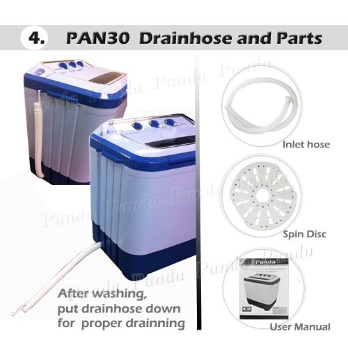 Panda Small Compact Portable Washing Machine Pan30 Drain By Gravity Model: PAN30