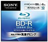 SONY ブルーレイディスク ビデオ用BD-R 追記型 片面1層25GB 6倍速 プリンタブル 10枚P 10BNR1VCPS6