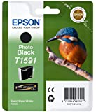 Epson T1591 Tintenpatrone Eisvogel, Singlepack, Foto schwarz